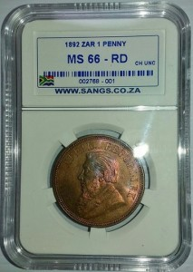 1892 penny ms66